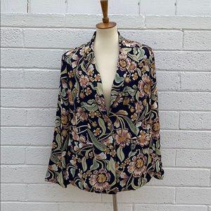 The Jet Set Diaries Fall Floral blazer jacket M